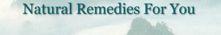 Natural remedies header